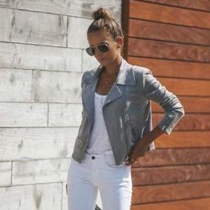 VICI Faux Suede Market Moto Jacket - Gray